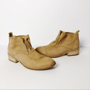 Eileen Fisher Soul Gathered Tan Slip On Booties